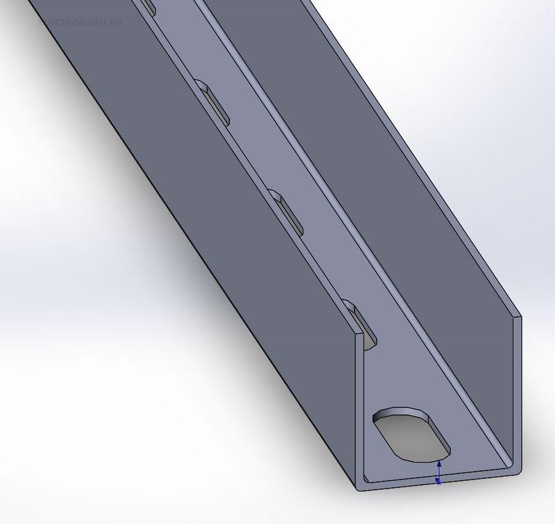 d749d068d63c6 Профиль П-образный 30х30 перфорированный по основанию, толщина 1,5мм