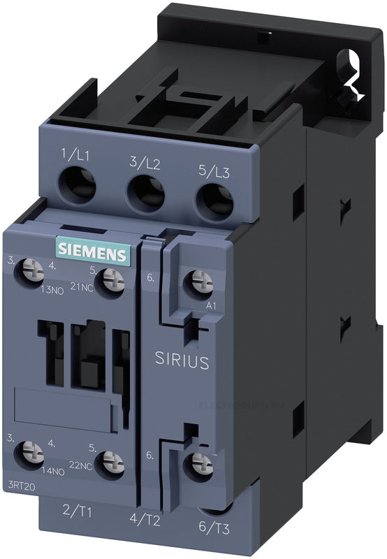 Контактор SIRIUS Innovations 3RT2 типоразмер S0 (SIEMENS)