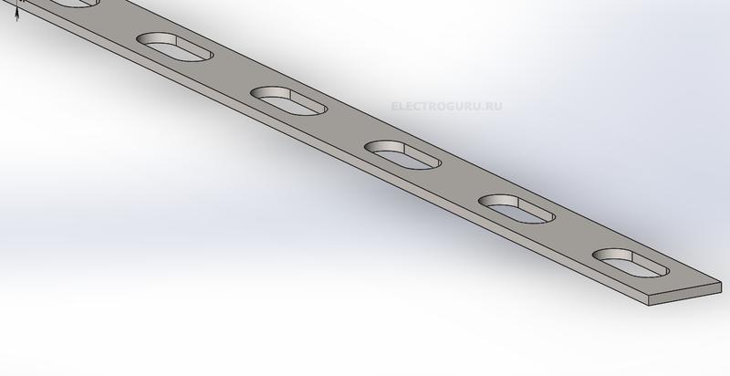 полоса монтажная перфорированная 20х2мм 1шт 2м