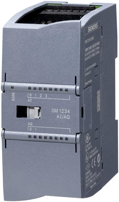 Модуль ввода и вывода аналоговых сигналов SM 1234, 4 аналоговых входа ±10 B, ±5 B, ±2,5 B, 0/4…20мА, 13Бит, 2 аналоговых выхода