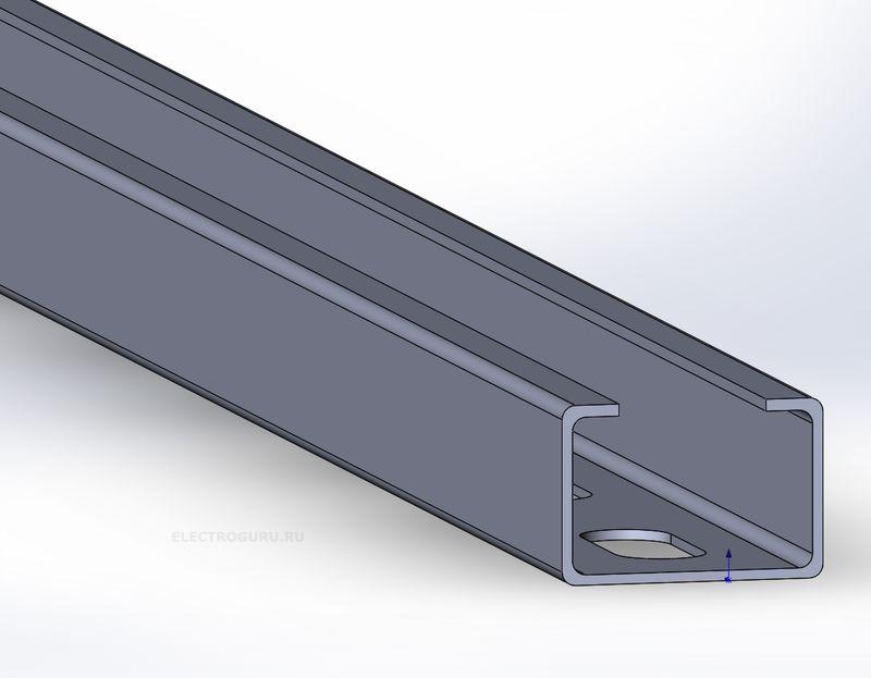 436c1c0a8fd20 Профиль монтажный С-образный перфорированный 30х20, толщина 1,2мм ...